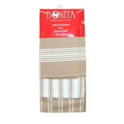 фото Комплект из 3-х полотенец Bonita. Цвет: коричневый