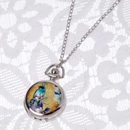 Купить Кулон-часы Mitya Veselkov «Райская бирюзовая птица»