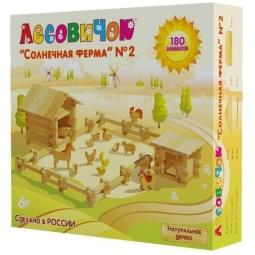 Купить Конструктор деревянный Лесовичок «Солнечная ферма №2»