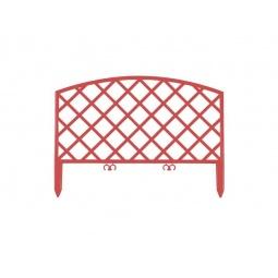 фото Забор декоративный Grinda «Плетень» 422207. Цвет: терракот