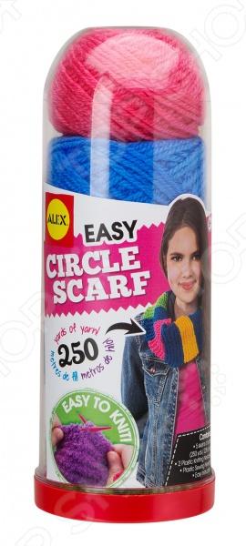 Набор для вязания спицами Alex «Круговой шарф»