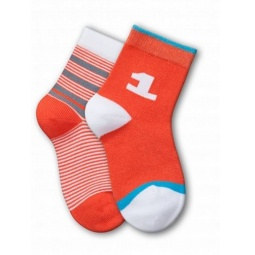 фото Комплект детских носков Teller Number One. Цвет: оранжевый. Размер: 23-26