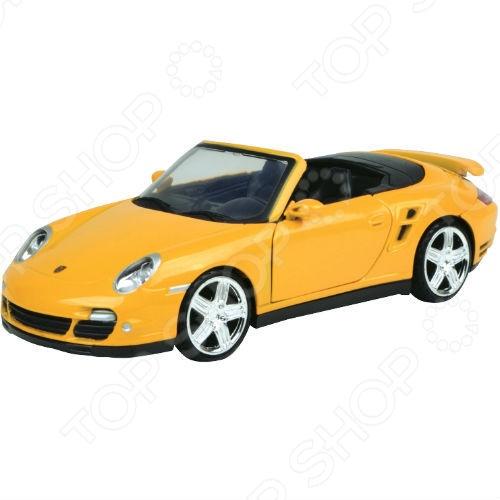 Модель автомобиля 1:24 Motormax Porsche 911 Turbo Cabriolet машины motormax модель автомобиля porsche 911 масштаб 1 60