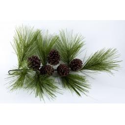 фото Новогоднее украшение Crystal Trees «Ветвь Кедра итальянского с шишками»