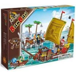 фото Конструктор Banbao Пиратская лодка , 502 детали