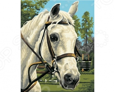 Набор для рисования по номерам Schipper «Белая лошадь» наборы для рисования цветной картины по номерам огненное дерево
