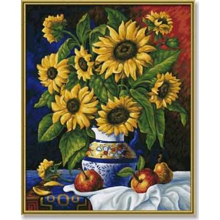 Купить Набор для рисования по номерам Schipper «Натюрморт с подсолнухами»