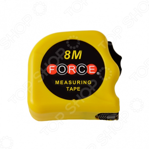 Рулетка измерительная Force F-5096PРулетки. Мерные ленты<br>Рулетка измерительная Force F-5096P это отличная рулетка с пластмассовым ударопрочным корпусом. Обладает повышенной устойчивостью и послужит вам в несколько раз больше по сравнению с обычными рулетками. Есть крючок для точных внутренних и внешних измерений. Эта рулетка будет удобна для работы на стройке за счет возможности крепления инструмента к поясу.<br>