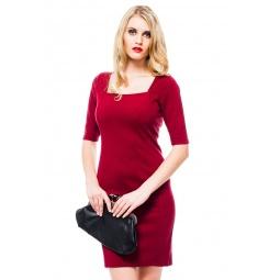 фото Платье Mondigo 8669. Цвет: бордовый. Размер одежды: 46