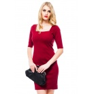 Фото Платье Mondigo 8669. Цвет: бордовый. Размер одежды: 48