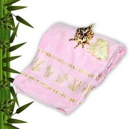 фото Полотенце махровое Mariposa Tropics pink. Размер полотенца: 100х150 см