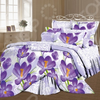 где купить Комплект постельного белья Романтика «Цветы шафрана» по лучшей цене