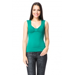 фото Майка Mondigo 387. Цвет: темно-зеленый. Размер одежды: 46