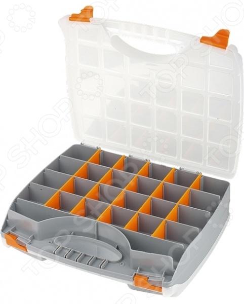 Ящик для крепежа StelsОрганайзеры. Ящики для крепежей<br>Ящик для крепежа Stels компактный и практичный органайзер, используемый для хранения мелких деталей и инструментов, а также рыболовных снастей и прочих хозяйственных принадлежностей. Регулируемые секции дают возможность пользователю расположить содержимое максимально удобным для него образом и обеспечить быстрый доступ к необходимым инструментам. Органайзер выполнен из прочного пластика.<br>