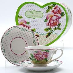 Купить Чайная пара Mayer&Boch MB-23005 «Розы»