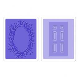 фото Набор форм для эмбоссирования Sizzix Textured Impressions Дверь и венок