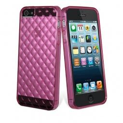 фото Чехол и пленка на экран Muvit Minigel Flexy для iPhone 5. Цвет: розовый