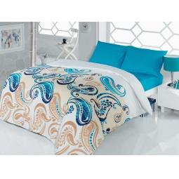фото Комплект постельного белья Casabel Royal. 1,5-спальный. Цвет: голубой
