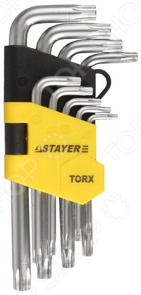 Набор ключей имбусовых коротких Stayer Master 2743-H9 набор ключей накидных изогнутых stayer мастер 27151 h6