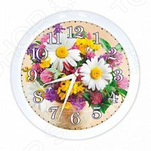 Часы настенные Вега П 1-7/7-219 «Букет. Ромашки»