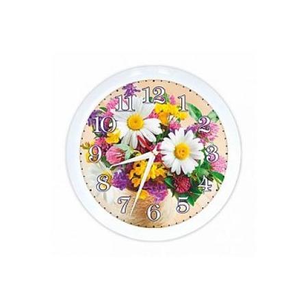 Купить Часы настенные Вега П 1-7/7-219 «Букет. Ромашки»