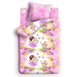 Купить Детский комплект постельного белья Непоседа Девочка с зайкой