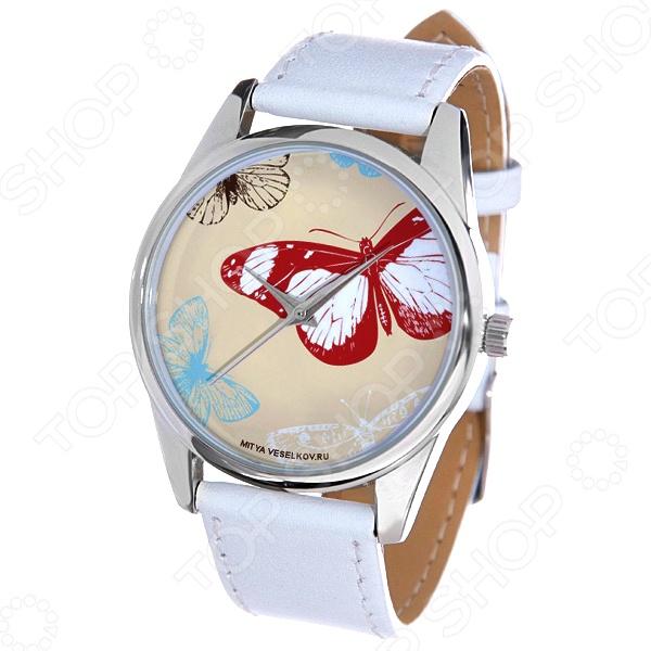 Часы наручные Mitya Veselkov «Цветные бабочки» MV.White часы наручные mitya veselkov цветные бабочки mv