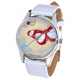 фото Часы наручные Mitya Veselkov «Цветные бабочки» MV.White