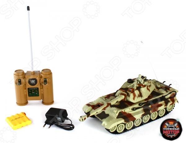 Танк на радиоуправлении Пламенный Мотор KING TIGER (Германия) танк на радиоуправлении пламенный мотор tiger германия 1 28 пластик от 4 лет камуфляж 87553