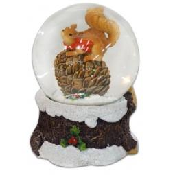 фото Декорация-шар музыкальная Новогодняя сказка «Белочка»