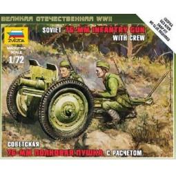 Купить Сборная модель Звезда «cоветская 76-мм полковая пушка»