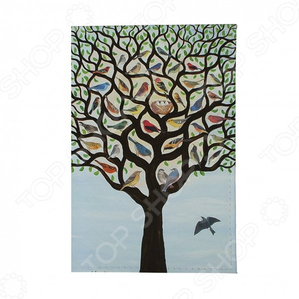 Обложка для автодокументов Mitya Veselkov «Дерево с птичками»