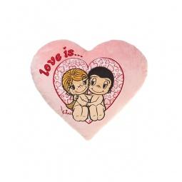 фото Подушка декоративная Love is... «Just the two of us». Цвет: розовый