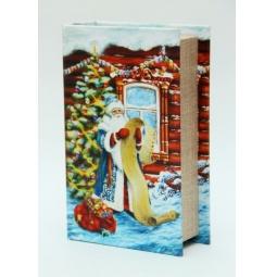 фото Шкатулка декоративная Феникс-Презент 38473 «Дед Мороз со списком»