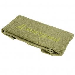 фото Полотенце подарочное с вышивкой TAC Дмитрий. Цвет: зеленый