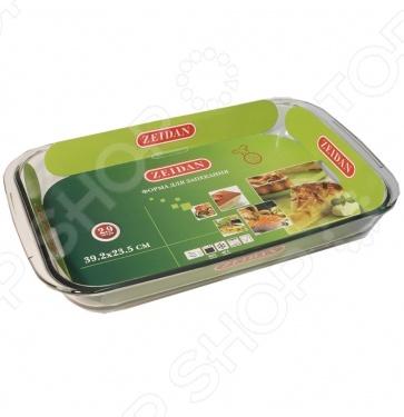 Форма для выпечки прямоугольная ZeidanСтеклянные формы для выпечки и запекания<br>Форма для выпечки прямоугольная Zeidan станет идеальным решением для повседневного приготовления любимых блюд в духовке, микроволновой печи. Изделие отвечает всем требованиям к стеклянной кухонной посуде. Термостойкое стекло, как и чугун, отличается невысокой теплопроводностью, поэтому пища в такой форме не сразу начнет терять свое тепло. Оно также не вступает в реакцию пищу, что позволяет сохранить все вкусовые свойства продуктов. Форма отличается своей практичностью, универсальностью, прочностью и надежностью, стильным и практичным дизайном, которые по достоинству оценят хозяйки. Прозрачный корпус позволит самостоятельно наблюдать процессом приготовления. Так как изделие способно выдержать температуру от -40 до 400 C, его можно использовать в морозильных камерах и мыть в посудомоечной машине.<br>