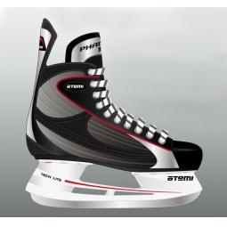 фото Коньки хоккейные ATEMI PHANTOM 1.0 RED. Размер: 35