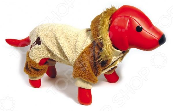 Комбинезон для собак DEZZIE «Кинси». Цвет: бежевый, коричневый