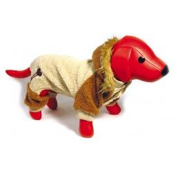 фото Комбинезон для собак DEZZIE «Кинси». Цвет: бежевый, коричневый. Размер: L/XL (35 см)