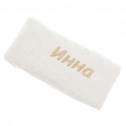 фото Полотенце подарочное с вышивкой TAC Инна. Цвет: молочный