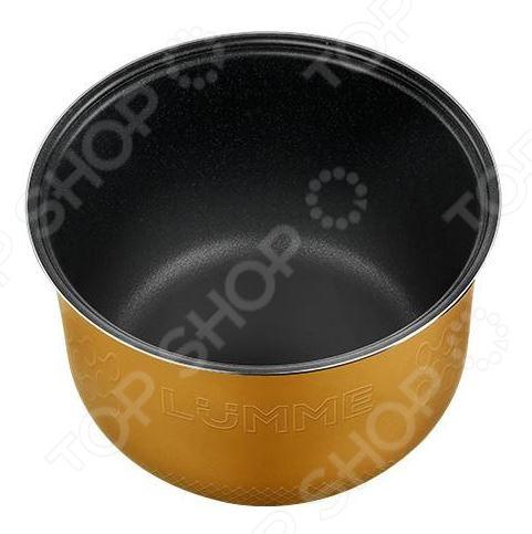 Чаша для мультиварки LUMME LU-MC301Аксессуары для мультиварок<br>Чаша для мультиварки LUMME LU-MC301 запасной элемент для моделей со стандартной чашей на 5 литров. Имеет двухслойное керамическое покрытие, которое позволяет в процессе готовки использовать значительно меньше масла. Толщина стенок всего 1.2 мм способствует равномерному нагреву чаши.<br>