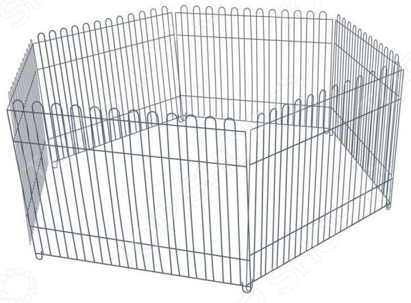 Вольер для собак DEZZIE шестигранныйБудки. Загоны. Клетки для собак<br>Вольер для собак DEZZIE шестигранный станет отличным приобретением для владельцев собак. Особенно удобен он будет для тех, кто живет в частных домах или на дачах. Модель состоит из шести решетчатых стенок и позволяет легко отгородить изолированную территорию для собаки. Каркас вольера выполнен из высокопрочного металла.<br>