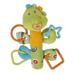 фото Мягкая игрушка развивающая Жирафики 93922 «Динозаврик с пищалкой»