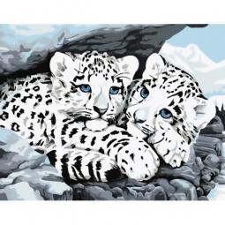 фото Набор для раскрашивания по номерам Белоснежка «Снежные леопарды»
