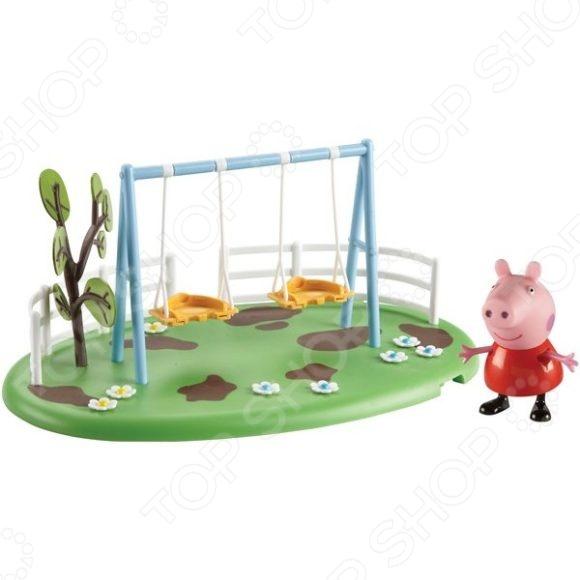 Набор игровой c фигуркой Росмэн «Игровая площадка. Качели Пеппы» игровой набор росмэн 20837 семья пеппы