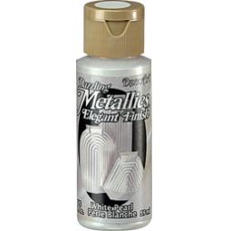 фото Краска акриловая перламутровая DecoArt Dazzling Metallics. Цвет: белый