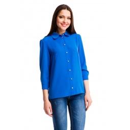 фото Блузка Mondigo 5100-7. Цвет: синий. Размер одежды: 44