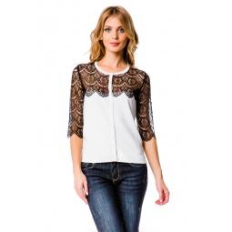 фото Жакет Mondigo 10033. Цвет: белый. Размер одежды: 46