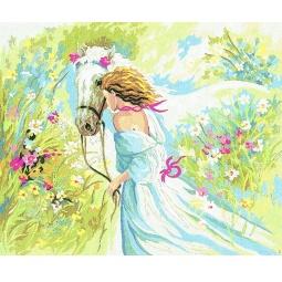 фото Канва с нанесенным рисунком Collection D'Art «Весна»