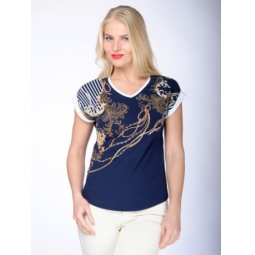 фото Футболка женская BeGood SS15-UKN-LTS-916. Цвет: синий. Размер одежды: 50